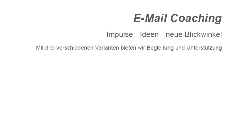 E-Mail Coaching